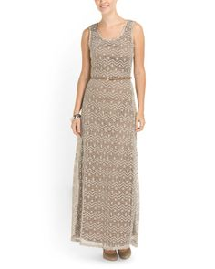 Love Crochet Maxi Dress