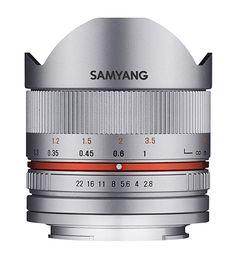 Samyang II Objektiv für Anschluss Fuji X - silber Distancia Focal, Ultra Wide Angle Lens, Fuji X, Sony E Mount, Canon Lens, Focal Length, Low Lights, Aperture
