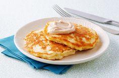 Apple Pancakes with Cinnamon-Sugar Topping Recipe - Kraft Recipes