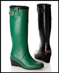 Resultado de imagen para Womens Tall Wedge Rain Boot   Fashion Boots   Hunter Boot