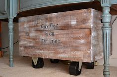Great toy box idea that can be accomplished with scrap wood and a fun wood burning tool to finish.