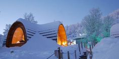 Gamme Cabins: Take time to enjoy an extra night under Finnmark's legendary dark skies with a night in the Snow Hotel's cozy new Gamme Cabins