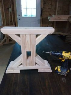 Trestle Farmhouse Bench Legs (set of – Farmhouse table diy Woodworking Ideas Table, Cool Woodworking Projects, Woodworking Furniture, Diy Woodworking, Woodworking Workshop, Woodworking Techniques, Diy Table, Wood Table, Dining Table Bench