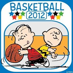 Olympics basketball Peanuts cartoon via www.Facebook.com/Snoopy