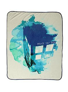 Doctor Who TARDIS Watercolor Throw Blanket | Hot Topic