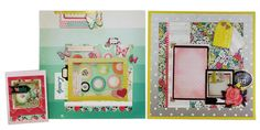 Layouts and card ideas using the @Maggie Holmes Flea Market line.