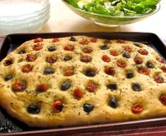 Cooking Italy: Rosemary Focaccia with Olives, Roasted Tomatoes