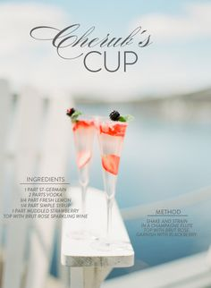 Cherub's Cup, best paired with warm sunshine Photography by White Loft Studio / whiteloftstudio.com/, Cocktail by St-Germail / stgermain.fr/