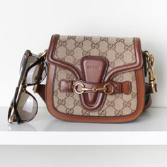 8e56b73547b Gucci 384821 Small Lady Web GG Crossbody Bag