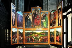 Discover medieval treasures in delightful Ghent #visitgent ghent altarpiece mystic lamb