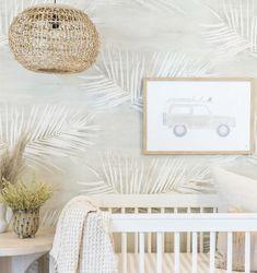 Neutral Leaf Wallpaper in Warm Grey Swatch