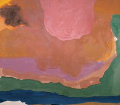 Helen Frankenthaler, Flood, 1967. Synthetic polymer on canvas, 124 × 140 in. (315 × 355.6 cm). Whitney Museum of American Art, New York; purchase with funds from the Friends of the Whitney Museum of AmericanArt 68.12  © 2009 Helen Frankenthaler / Artists Rights Society (ARS), New York
