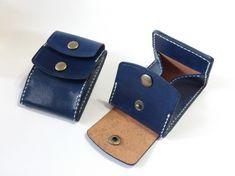 【特価】カードとコインの財布Ⅲ CC-12-3 コインケース 小銭入れ ヌメ革 ディープブルー|財布・二つ折り財布|Kasy|ハンドメイド通販・販売のCreema