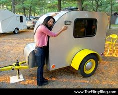 View topic - Would love feedback on my original, tiny trailer design Small Camping Trailer, Small Trailer, Tiny Trailers, Camper Trailers, Retro Trailers, Truck Camping, Tiny Camper, Car Camper, Cool Campers