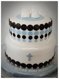 Baby Boy Baptism Cake  Cake by itsacakething