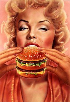Art marilyn par syd brack divine marilyn monroe logo design for obesity center of bariatric surgery by purple phase communications purplephase in Arte Marilyn Monroe, Logo Food, Consumerism, Art Model, Food Art, Vintage Posters, Pin Up, Illustration Art, Illustrations
