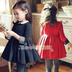 女童2013秋装新款韩国童装气质英伦风学院裙儿童连衣裙长袖公主裙-淘宝网