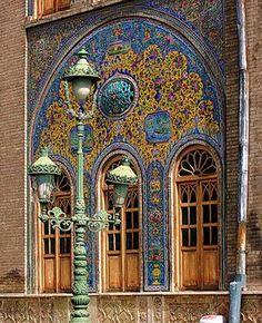 Colorful Glazed Tiles at Golestan Palace, Tehran, Iran