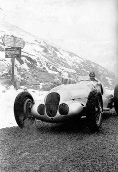 The legendary pre-war 'Silver Arrow' Grand Prix car
