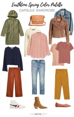 Earth Tones: A Spring Capsule Wardrobe 3 Ways For a Spring capsule wardrobe, earth tones form a perfectly muted palette we can get down with. 3 ways to sport color this season? We got 'em. Earth Tone Colors, Earth Tones, Mustard Pants, Capsule Wardrobe Mom, Capsule Clothing, Yellow Pants, Spring Outfits Women, Minimalist Wardrobe, Minimalist Fashion