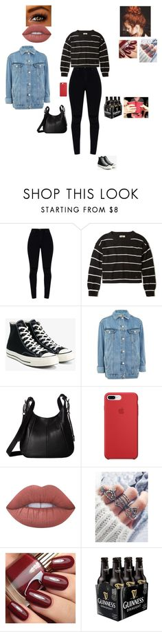 """""""Attending a kickback with your crush"""" by sonialicetmartinez ❤ liked on Polyvore featuring Hollister Co., Converse, Topshop, Frye and Lime Crime"""