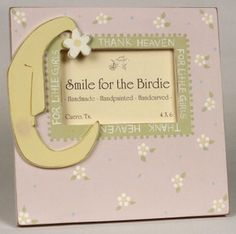 'Thank Heavens for Little Girls' Hand Painted Picture frame