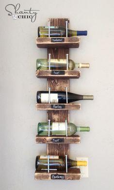 6. Wine Rack – DIY - Shanty 2 Chic