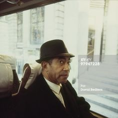 Jazz trombonist Lawrence Brown on a bus