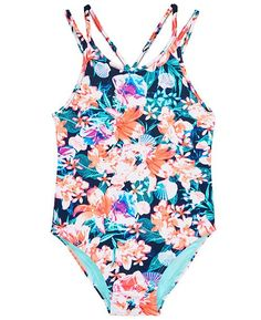 f88b13d431 Ideology Little Girls 1-Pc. Floral-Print Swimsuit. Little Girl SwimsuitsCute  SwimsuitsKids ...