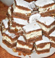 Mostanában gyakran elkészítem, mert egyszerűen nem tudunk betelni vele! Hozzávalók 75 g porcukor 1 db tojás 100 g vaj 150 g liszt 150 ml tej 2 evőkanál kakaó 1 tasak sütőpor 2 tasak vaníliás cukor A töltelék 2 db tojás 500 g túró 150 g cukor 2 tasak vaníliás cukor 1 evőkanál liszt 100 g … Hungarian Desserts, Hungarian Recipes, Sweet Desserts, Sweet Recipes, Cake Recipes, Cake Cookies, Sugar Cookies, Gourmet Recipes, Cooking Recipes
