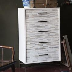 wood tiled dresser $