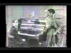 Irving Berlin (1888-1989) demonstrates his amazing transposing piano to Dinah Shore and Tony Martin c. 1951.