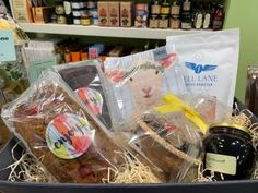 Perfect for those that my be cocooning A personalised Hamper created by Ann of White Gables availabe to purchase on line to collect or post Old Fashioned Sweets, Non Perishable Items, West Cork, Log Cake, Love Hug, Irish, Branding Design, Artisan, Hampers