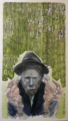 Chris F: Tom Waits watercolour & ink on paper