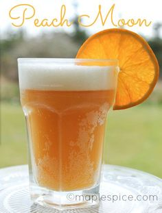 Peach Moon - Blue Moon beer, peach schnapps and orange juice.