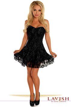 9cf7f93e4e Lavish Black Lace Corset Dress. Plus Size ...