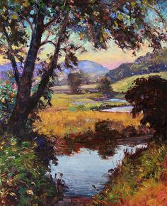 Landscape Paintings and photographs : Catherine Elliot  lovely artist   wonderful use of colour!