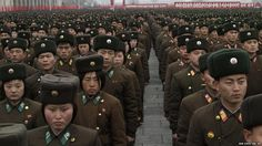 North Korean army officers....