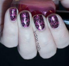 Lydia's Nails: Pink Valentines Jelly Sandwich with Hearts ♥
