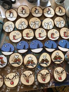 natural wood slice christmas decor ideas 32 The Effective Pictures We Offer You About Diy Wood