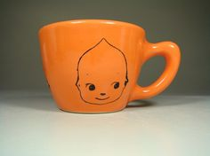 12oz cup kewpie cabeza (creamsicle) - Made to Order / Pick Your Colour