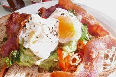 Avocado on Toast (with bacon) at Breakfast Club, Boxpark Croydon