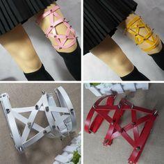 Apparel Accessories Handmade Harajuku Hook Adjustable High Quality New Suspender Single Strap Clip Punk 1pc Sock Garter Women Men Leather Leg Ring Big Clearance Sale