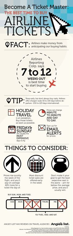 Become A Ticket Master: The Best Time To Buy Airline Tickets | Angie's List
