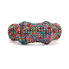 Multi colored crystal bangle bracelet - helene h