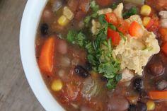 A Bountiful Kitchen: Healthy Chicken Tortilla Soup