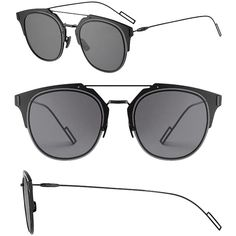 ece3f0725c Pre-owned Dior Homme Dior Composit 1.0 Sunglasses Dark Grey Black grey  (3