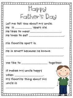 FREEBIE This is really for uncles and grandfathers if a student doesn't have a father. Father's Day Interview Questions, Questionnaire, and more! Grand...