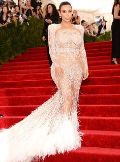 Kim Kardashian Stuns in Roberto Cavalli Gown at Met Gala 2015 - Us Weekly