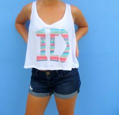 One Direction Shirt 1D Logo Crop Tank  Tribal by ForeverHipsterCo, $20.00